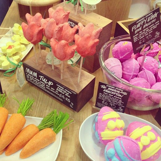 Lush Easter Collection. This picture makes me really excited for something that may be happening this weekend. x