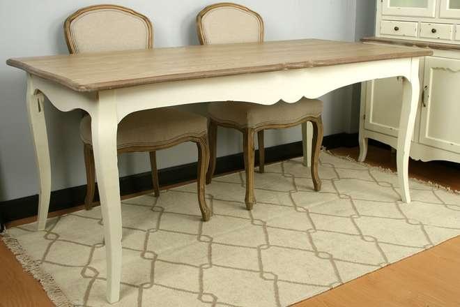 Mesa comedor medidas 180x90x80 cm madera de fresno - Muebles de comedor rusticos ...