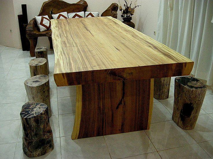 IndoGemstone Bali Home Furniture Decor Natural Wood Dining Table