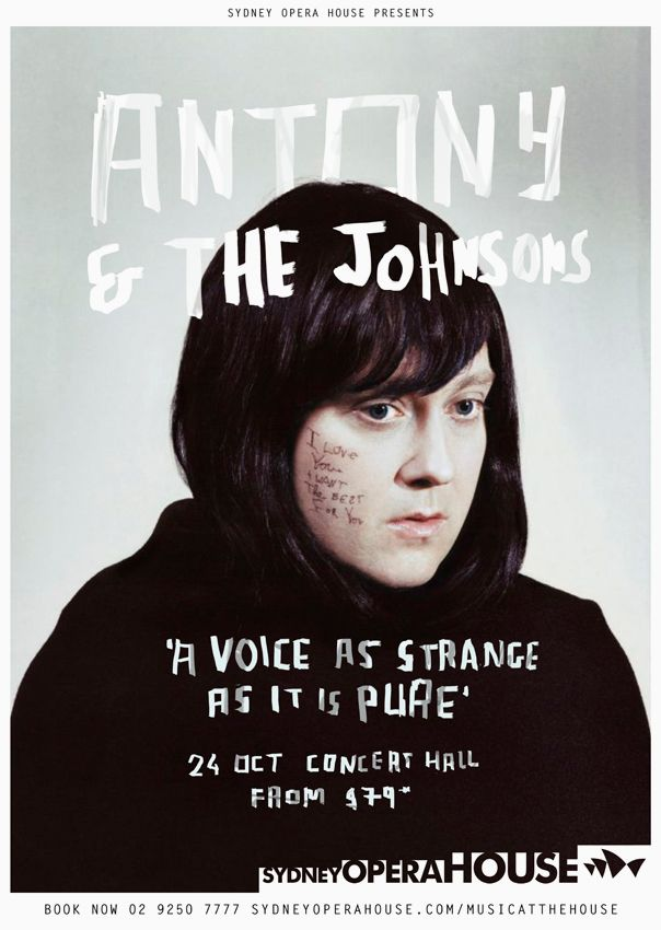 'Antony and the Johnsons' is a music group presenting the work of Antony Hegarty and his collaborators. Antony's second full-length album, 2005's 'I Am a Bird Now', was greeted with positive reviews and featured guest appearances by Lou Reed, Rufus Wainwright, Boy George and Devendra Banhart, and circled themes of duality and transformation. In 2005 'Antony and the Johnsons' were awarded the Mercury Prize for the best UK album.