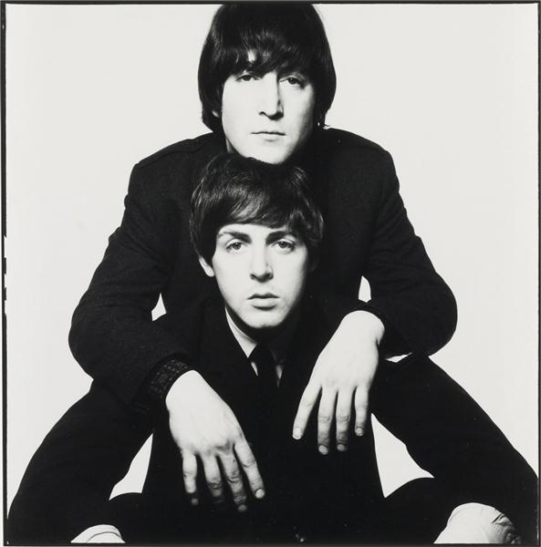 David Bailey, John Lennon and Paul McCartney, January, 1965