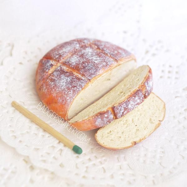 Miniature BREAD LOAF, Partially Sliced, Food for Dollhouses – Badger's Bakery