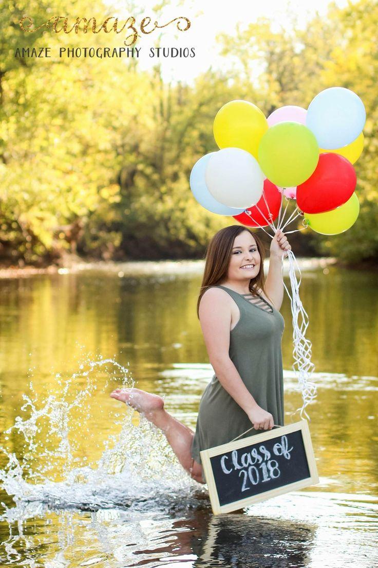 Morgan's senior pictures #balloons #chalkboard #ClassOf2018