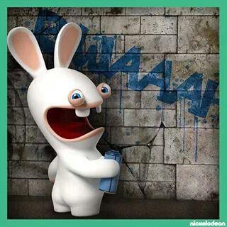 Spank a rabbits