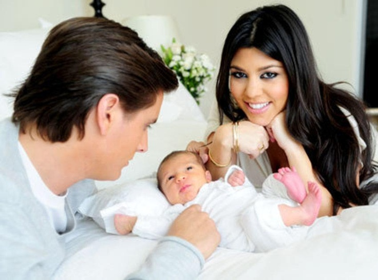 Kourtney Kardashian and Scott Dissick's new baby girl.