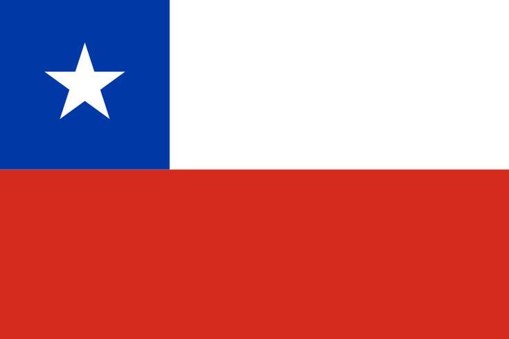 Bandera de la República de Chile.