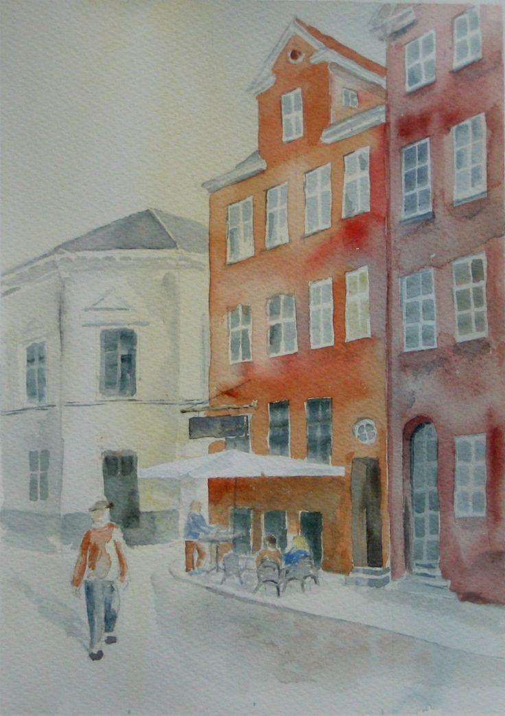 Byhuse - www.pj-akvarel.dk