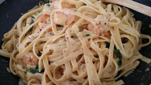 #Garlic #Prawn #Fettucine