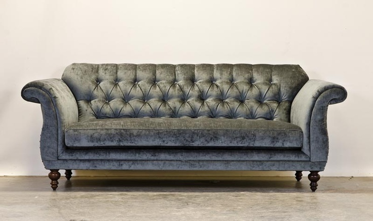 tufted grey chenille weddington sofa | dream a little