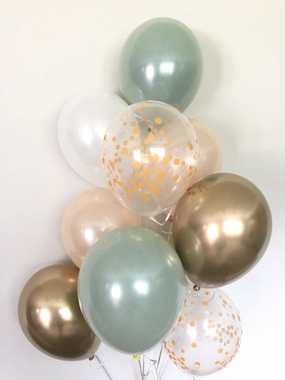 15 WEDDING AND BRIDAL Mint to Be LATEX BALLOONS ~ Party Shower Supplies Floral