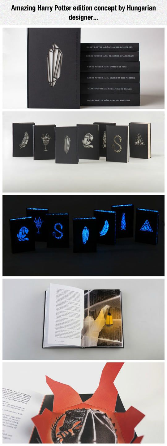 Amazing Cover Design For Harry Potter Books I NEEEEEED IT