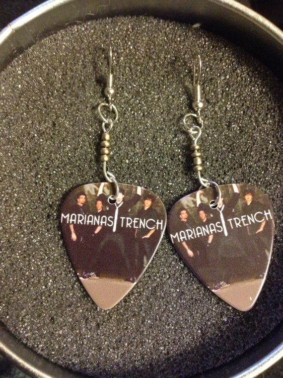 marianas trench guitar pick earrings on Etsy, $7.99 CAD Asdfghjkl