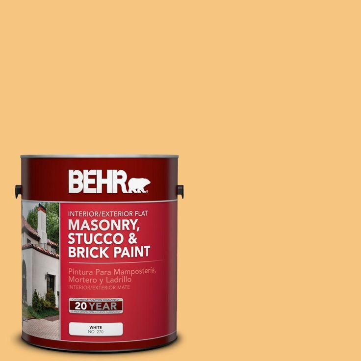 behr 1 gal ppu6 07 jackfruit flat interior exterior on home depot paint colors exterior id=27382