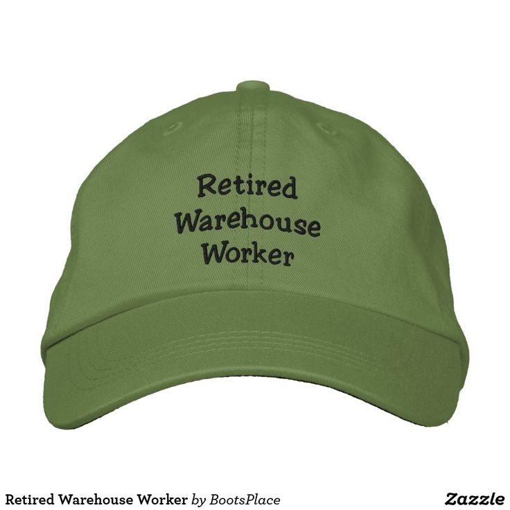 Retired Warehouse Worker Embroidered Baseball Cap The