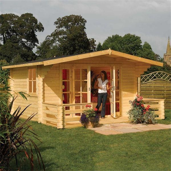 The Rowlinson Baltic Chalet is an absolutely stunning garden summerhouse &  can be used as an office, home gym, or a tranquil hideaway.