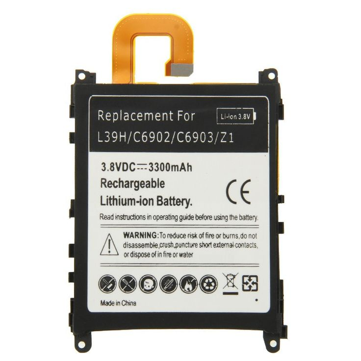 High Quality 1Pc Rechargeable 3.8V 3300mAh Mobile Phone Lithium-ion battery For Sony Xperia Z1 L39H C6902 C6903 Battery