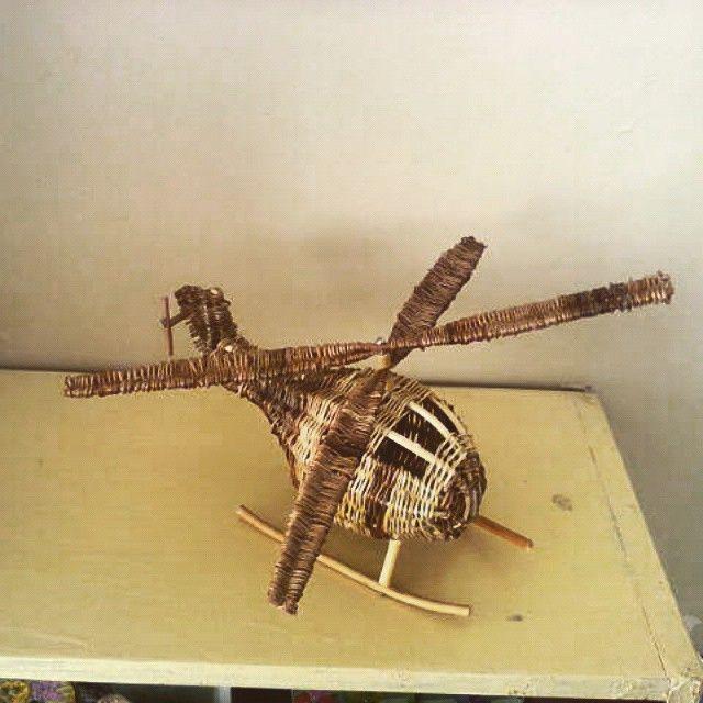 вертолет из лозы #wicker