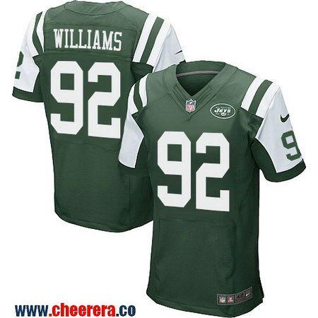 4b987347d ... Mens New York Jets 92 Leonard Williams Green Team Color Stitched NFL  Nike Elite Jersey ...
