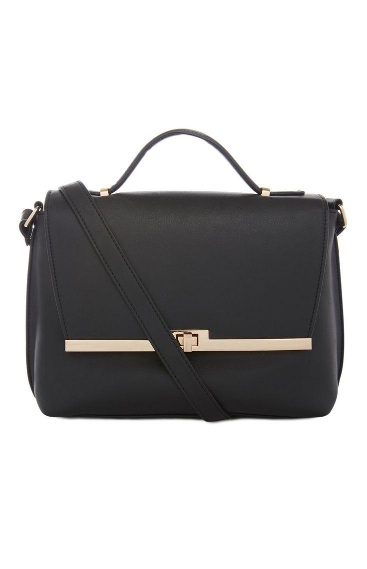 Primark - Schwarze Tasche mit Metallverzierung