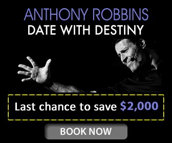 Thinking about going to Tony Robbins' Date with Destiny?  Today is THE day to take action - buy now and you will save $2,000 on a ticket!  Get in quick as this offer ends TODAY: http://bit.ly/SM_DWD