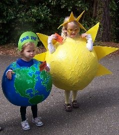 "Earth Sun! Cute, but what does it say about the kid who is the sun? ""Everything revolves around me"""