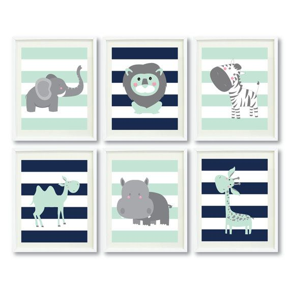 Hey, I found this really awesome Etsy listing at https://www.etsy.com/listing/220830280/safari-animals-art-print-set-four-or-six
