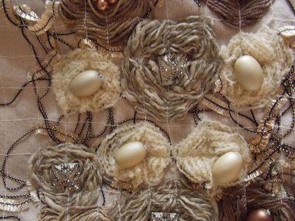 Женские сумки ручной работы. Сумка-бохо в технике крейзи вул Утренний кофе…