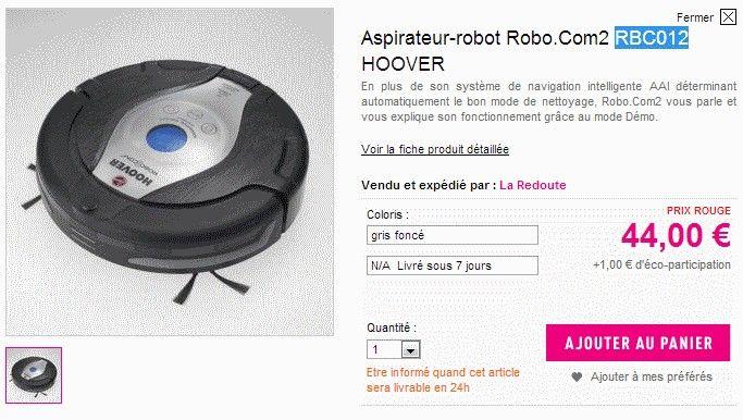 N'hésitez pas à signer la pétition si vous aussi vous avez commandé un aspirateur HOOVER sur le site de La Redoute et que celle ci est annulée  http://www.activism.com/fr_FR/petition/petition-la-redoute-suite-a-l-operation-robot-aspirateur-hoover-a-44-euros/43337