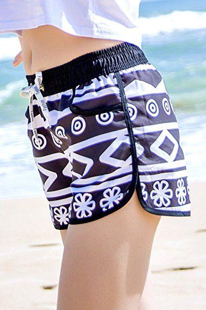 1eec0e0c3cf92c Yieks Badeshorts Damen Sommer Urlaub Strand-Shorts: - Sommer Hosen Trends  sommerhosen sommer hose