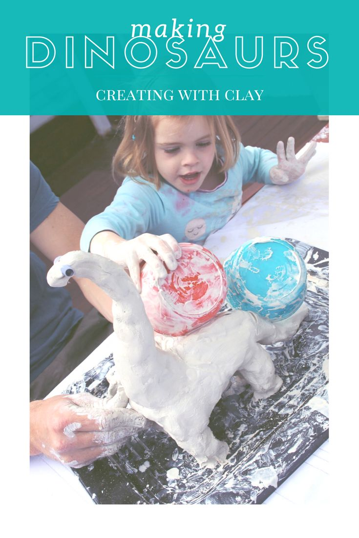 If your child loves sensory experiences and dinosaurs (or any animal really) then clay is the perfect medium for them to create with!