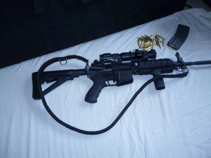2 Point Rifle Sling Spec Opp Black King Cobra Knot 550 Paracord | NP550TactSolutions | Pinterest ...