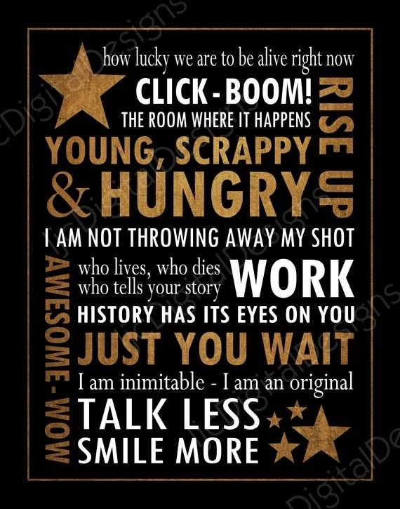 Musical Best Hamilton Quotes