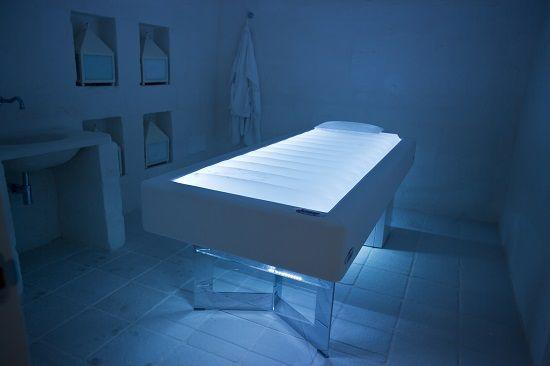 SENSO, the water mattress bed by ISO Benessere at the Timobianco SPA, Masseria Muzza