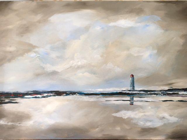 Lighthouse 2: Acrylic on board