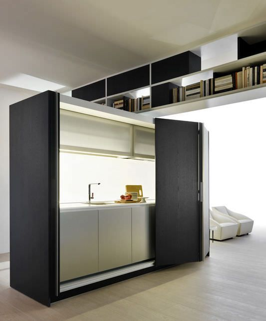 Contemporary kitchen / laminate / hidden / with recessed doors - TIVALI by Dante Bonuccelli - Dada