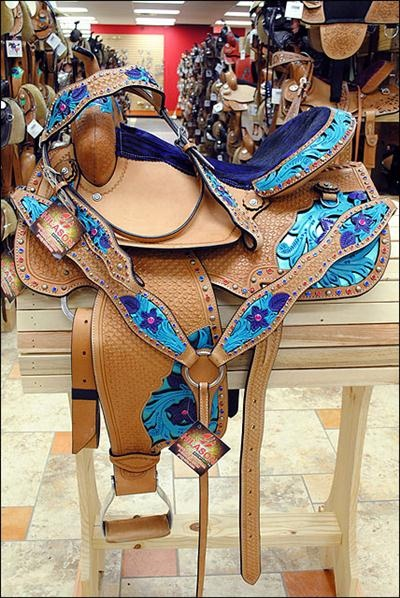Oh My!!! Gorgeous! BHOS040BHPA419-HILASON WESTERN BARREL RACING TRAIL PLEASURE SADDLE COMES WITH HEADSTALLS & BREAST COLLAR