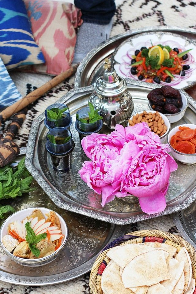 Moroccan themed lunch
