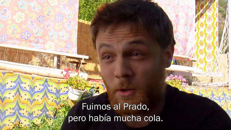 YouTube video: Fin de semana en Madrid - 4  ... pretérito ... conversación .. from Ele ... hablan rapidamente ... lugares y actividades ...