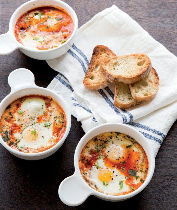 Pečená vejce s rajčaty, mozzarellou a oreganem , Foto: Rychlé večeře pro školáky