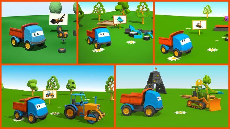 Cartoni Animati per bambini: Leo il Camion Curioso gioca con le ruspe