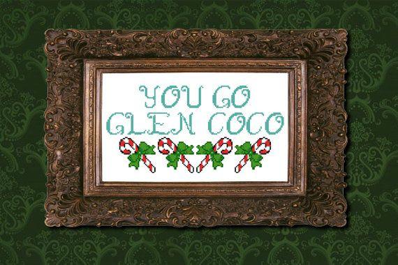 You Go Glen Coco Mean Girls cross stitch PDF by XStitchesBeCrazy, £2.50