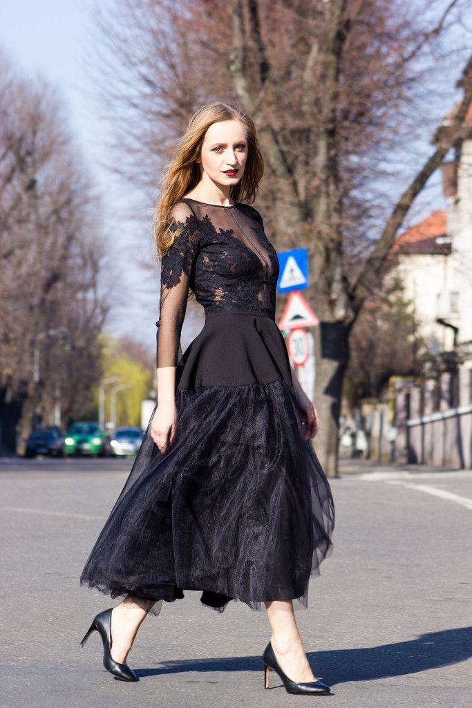 The little black dress street style
