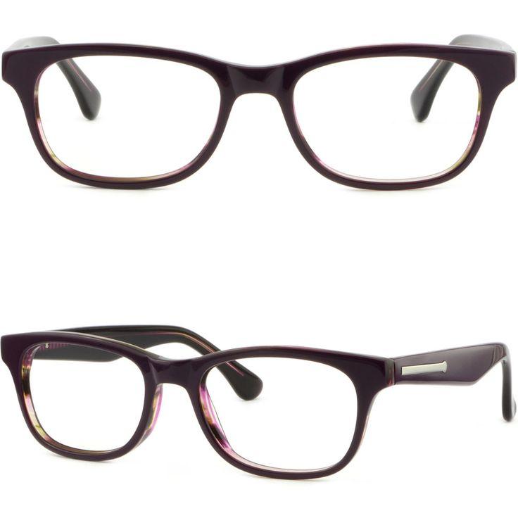 Rectangle Square Women's Acetate Frame Prescription Glasses RX Sunglasses Purple #Unbranded