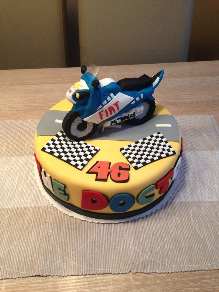 The Doctor (valentino Rossi) Cake MY NEXT BDAY CAKE!!!!!!!!!!!!