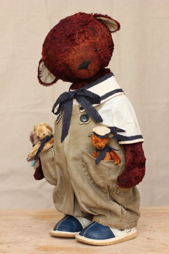 Vintage Antique style OOAK Teddy Bear  Kapitosha by MarinaStruk, $300.00