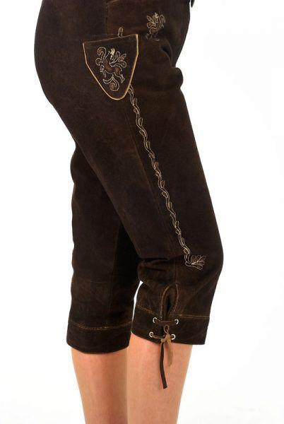 Trachten Kniebundlederhose, dunkelbraun - online kaufen