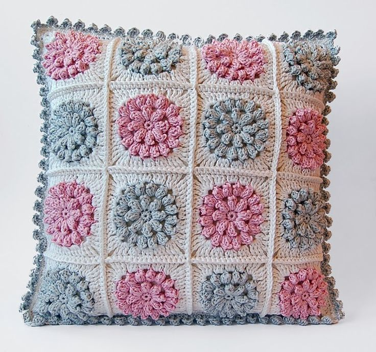 Pink and gray pillow free pattern
