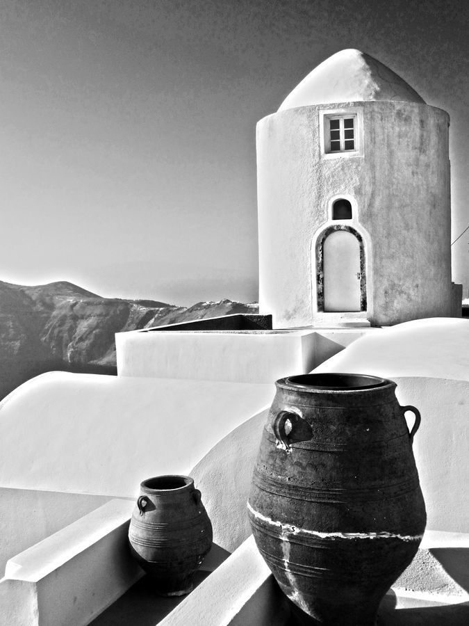 Pithos and Mill, Oia, Santorini, Greece