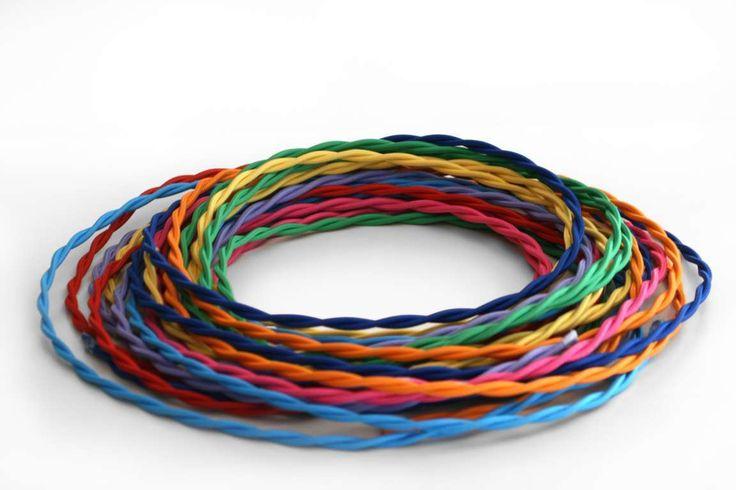 Cavi elettrici intrecciati rivestiti in tessuto colorato