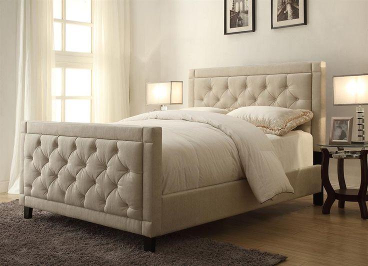 184 best Tufted Headboards & Beds images on Pinterest | Bedroom ... : quilted queen headboard - Adamdwight.com